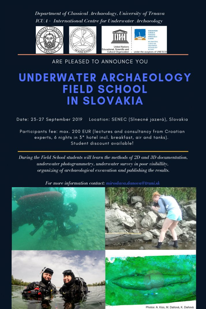 Underwater Archaeology Field School in Slovakia